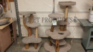 two custom cat trees